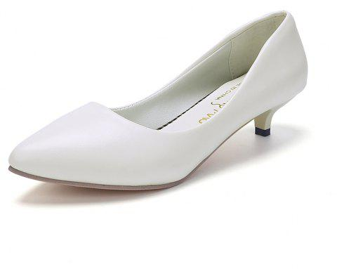Black Pointy Heels Chaussures pour femmes - Blanc 40