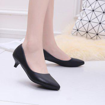 Black Pointy Heels Chaussures pour femmes - Noir 40