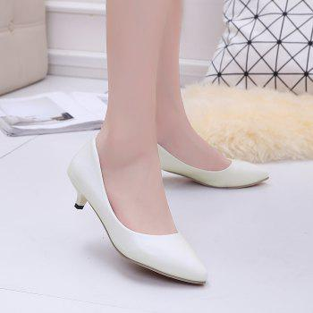 Black Pointy Heels  Women's Shoes - WHITE 38