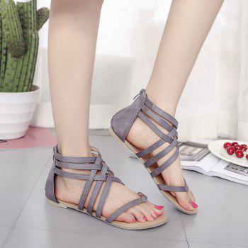 The Pine-toed Hollow With Roman Sandals - GRAY 38