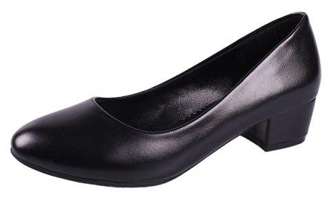 Heiseqian And Professional Single Shoes - BLACK 39