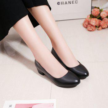 Heiseqian And Professional Single Shoes - BLACK 38