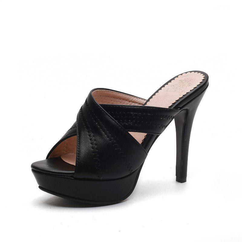 Leisure Professional Super Heel Slippers - BLACK 38