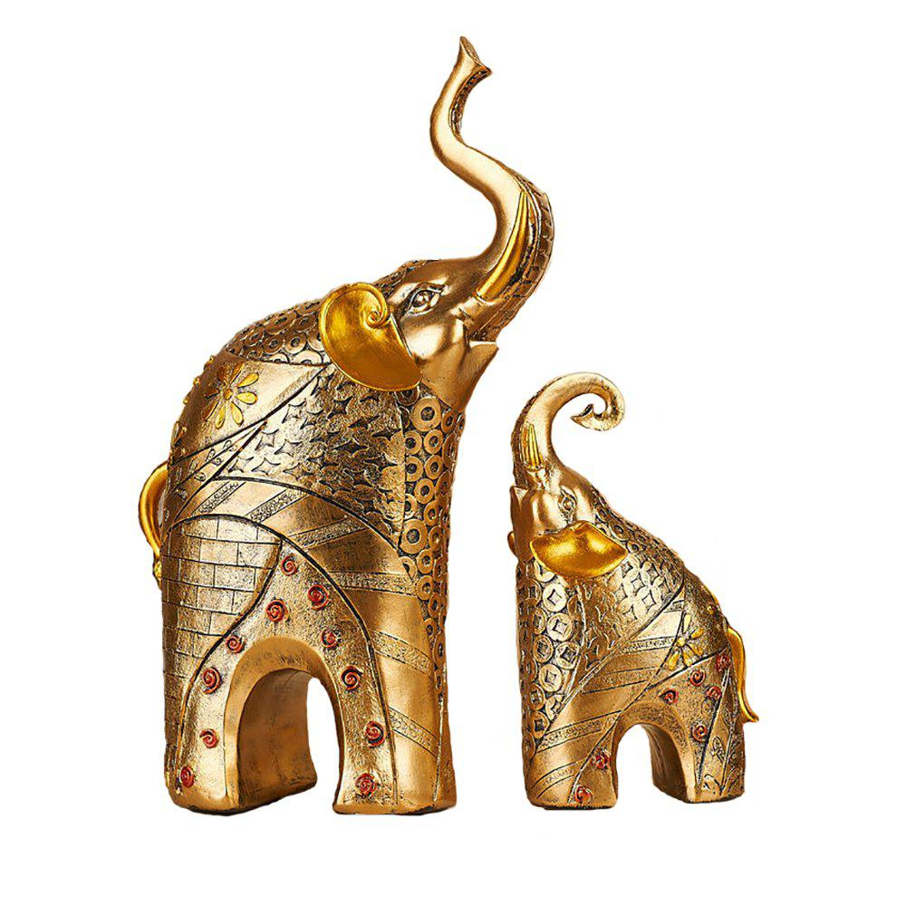 Elephant Decoration Creative Resin Crafts Parlor OfficeTV Cabinet Household Gift - GOLD