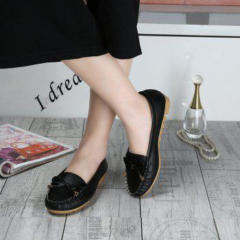 Butterfly Peas Shallow Mouth Shoes - BLACK 40