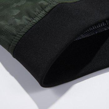 Camouflage Stand Collar Soft and Delicate Jacket - BLACK M