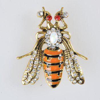 Enamel Cute Bee Brooches Unisex Insect Brooch Pin Women and Men Fashion Jewelry - GOLD