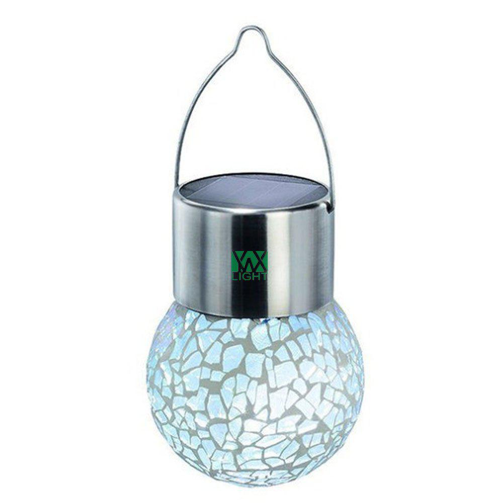 YWXLight Solar Hanging Led Light Crackle Glass Globe Pendant RGB Lamp american country bird pendant lamp bedroom coffee bar hanglamp glass abajur light fixtures for restaurants led e14 nordic new