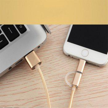 The Two-In-One Charging Durable and Fast Charging Cable For iPhone Android - GOLD