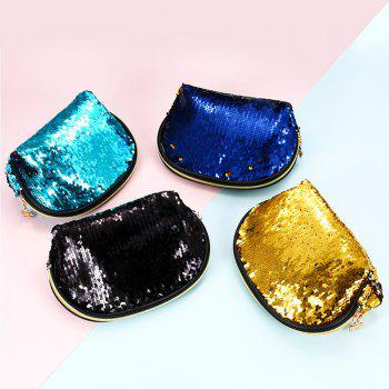 Sms-03 Sequins Holding A Cosmetic Bag 4 color - TRON BLUE