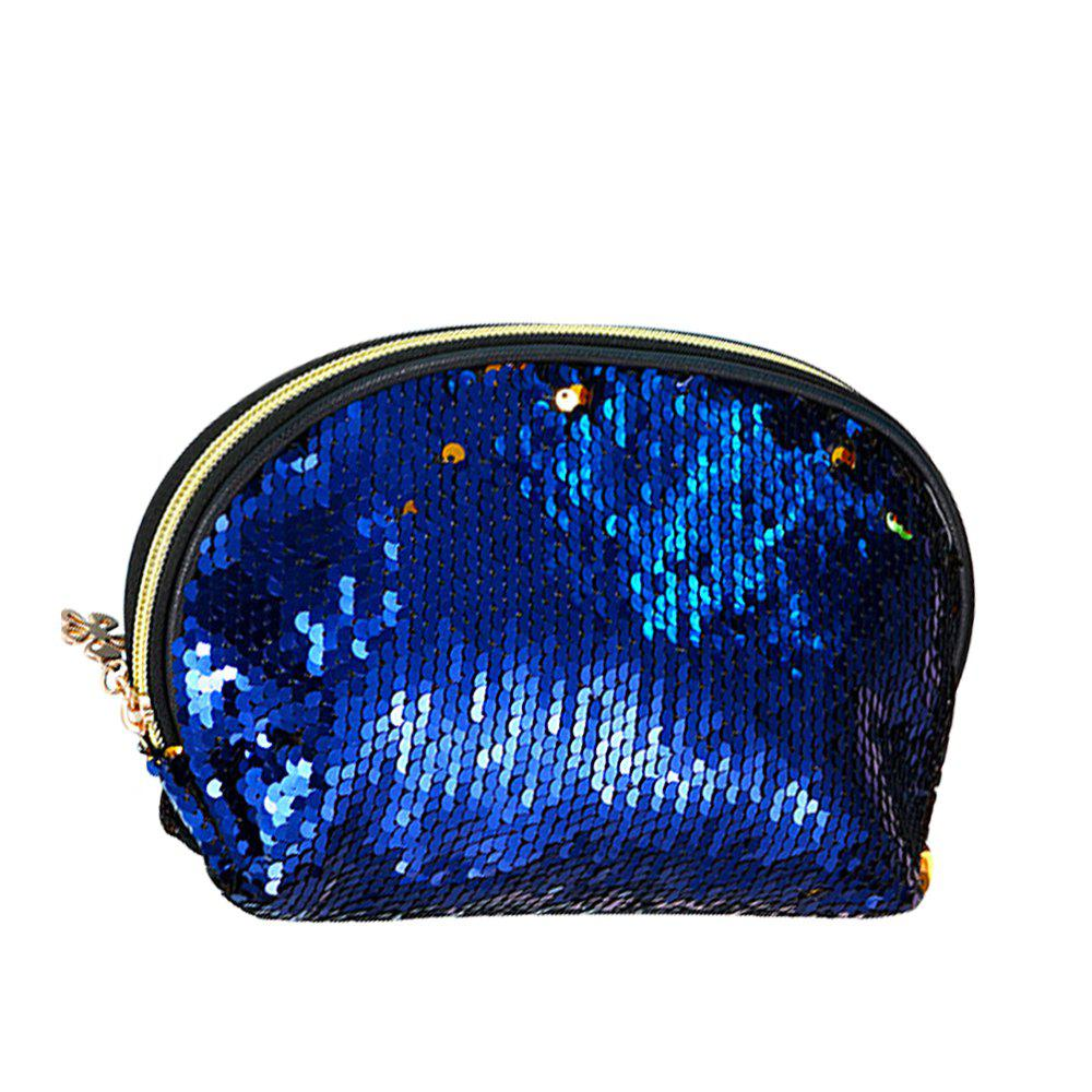 Sms-03 Sequins Holding A Cosmetic Bag 4 color - SAPPHIRE BLUE