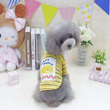 Lovoyager VB1802 New Cute Fashion Dolphin T-Shirt for Pets in 2018 - YELLOW 2XL