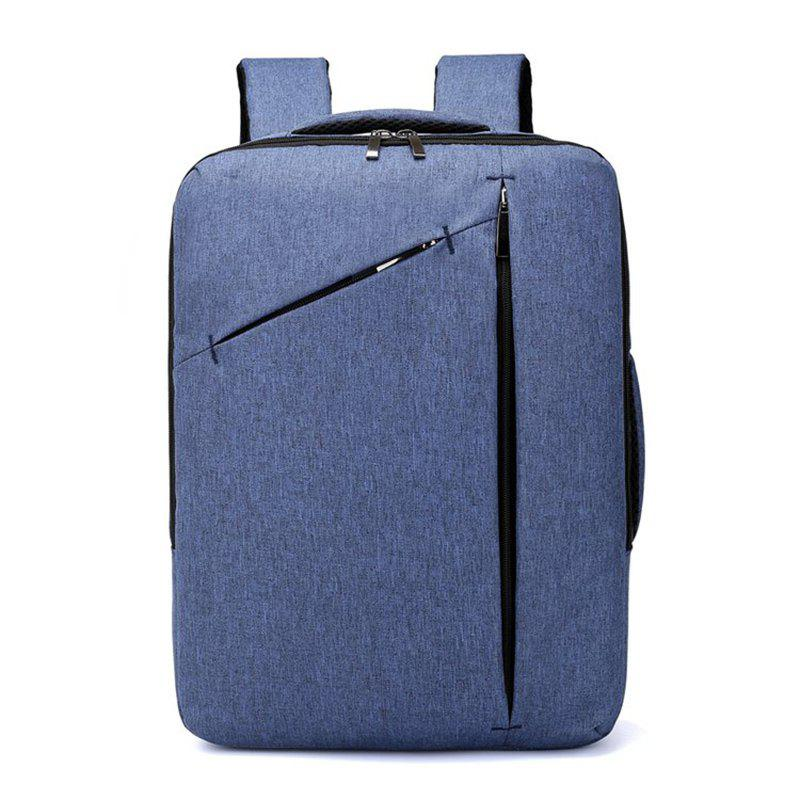 Men's 2 Use Shoulder Computer Bag Large Capacity Anti-theft Travel Backpack - STEEL BLUE