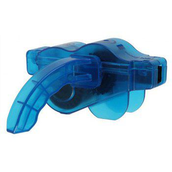 Mountain Bike Special Maintenance Translucent Chain Washing Device - BLUE