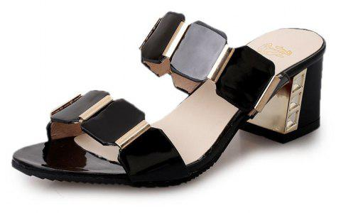 Les tongs Fish-mouth Sandals - Noir 39
