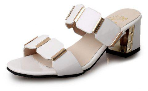 Les tongs Fish-mouth Sandals - Blanc 37