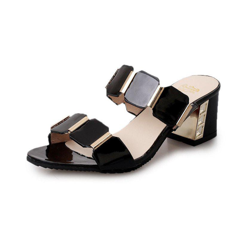 The Flip-flops Fish-mouth Sandals - BLACK 40