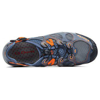 Clorts Men Quick-drying Wading Water Shoes For Outdoor - STEEL BLUE 42