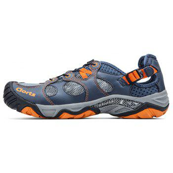 Clorts Men Quick-drying Wading Water Shoes For Outdoor - STEEL BLUE 43