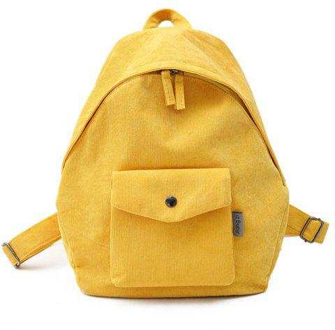 Simple Large Capacity Casual Travel Backpack - RUBBER DUCKY YELLOW