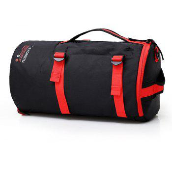 Fashion Contrast Color Outdoor Sports Backpack Unisex Mountaineering Bag - LAVA RED
