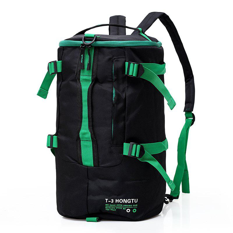 Fashion Contrast Color Outdoor Sports Backpack Unisex Mountaineering Bag - ZOMBIE GREEN
