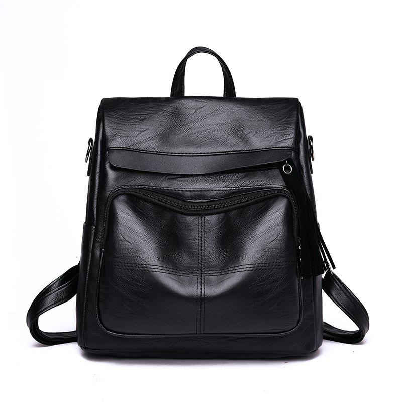 Simple Personalized Large-capacity Travel Backpack - BLACK