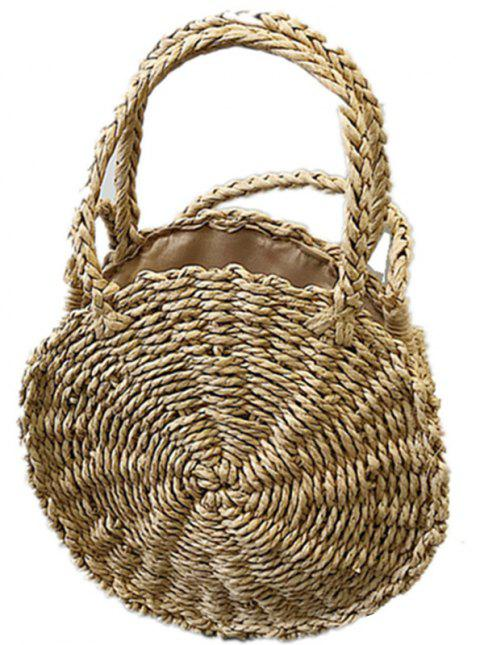 Straw Handbag Beach Woven Messenger Shoulder Bag - BLONDE