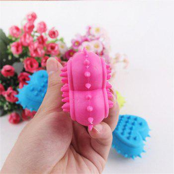 Love Bone Pet Dog Tooth Pressure Relief Toy - ROSE RED