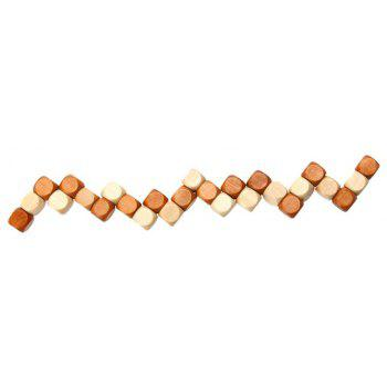 Creative Children Wooden Toys with Dragon Tail Ruban Lock - multicolor