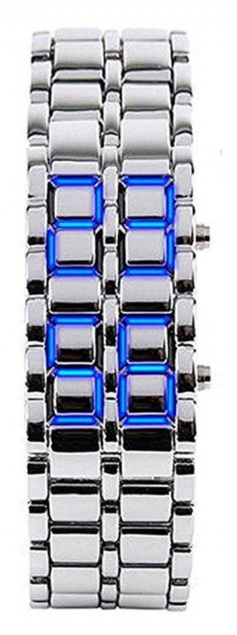 Stainless Steel Men Digital Watches - ROYAL BLUE