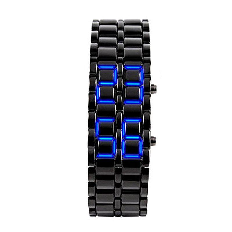Stainless Steel Men Digital Watches - SAPPHIRE BLUE