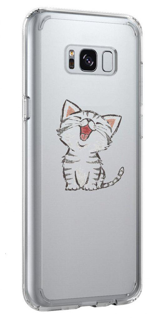Coque pour Galaxy S8 Plus TPU Soft Shell Cat Pattern - Transparent
