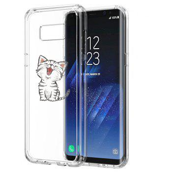 Case for Galaxy S8 Plus TPU Soft Shell Cat Pattern - TRANSPARENT