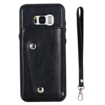 Cover Case for Samsung Galaxy S8 Plus Fashion Bag Style Leather Suit - BLACK