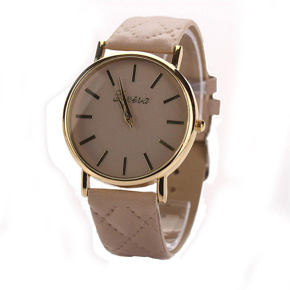 Geneva XR781 Women Men Analog Quartz Leather Wrist Watch top sale montre femme quartz watch women s fashion geneva roman numerals faux leather analog wrist watch relogios femininos yo1