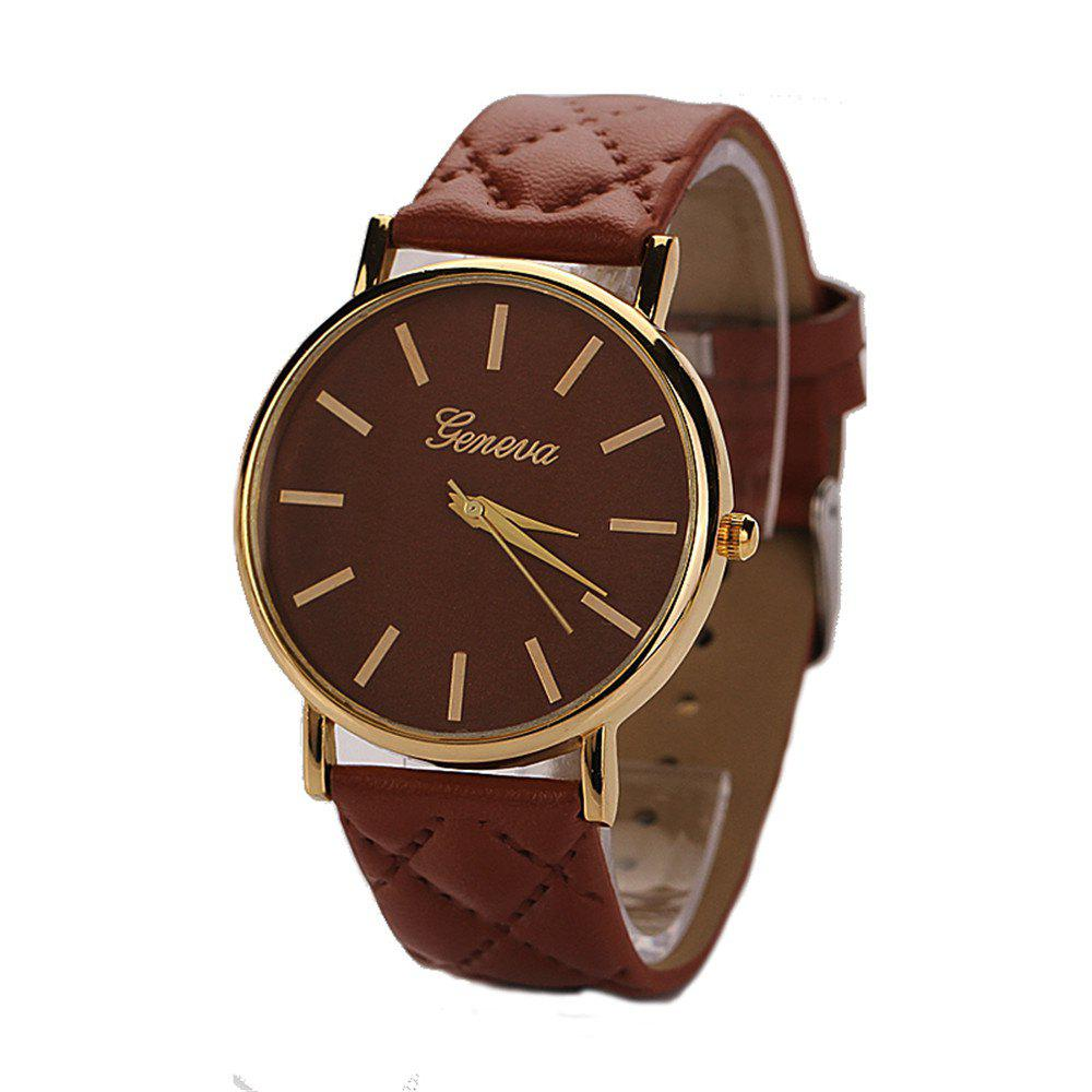 Geneva XR781 Women Men Analog Quartz Leather Wrist Watch yazole brand lovers watch women men watches 2017 female male clock leather men s wrist watch girls quartz watch erkek kol saati