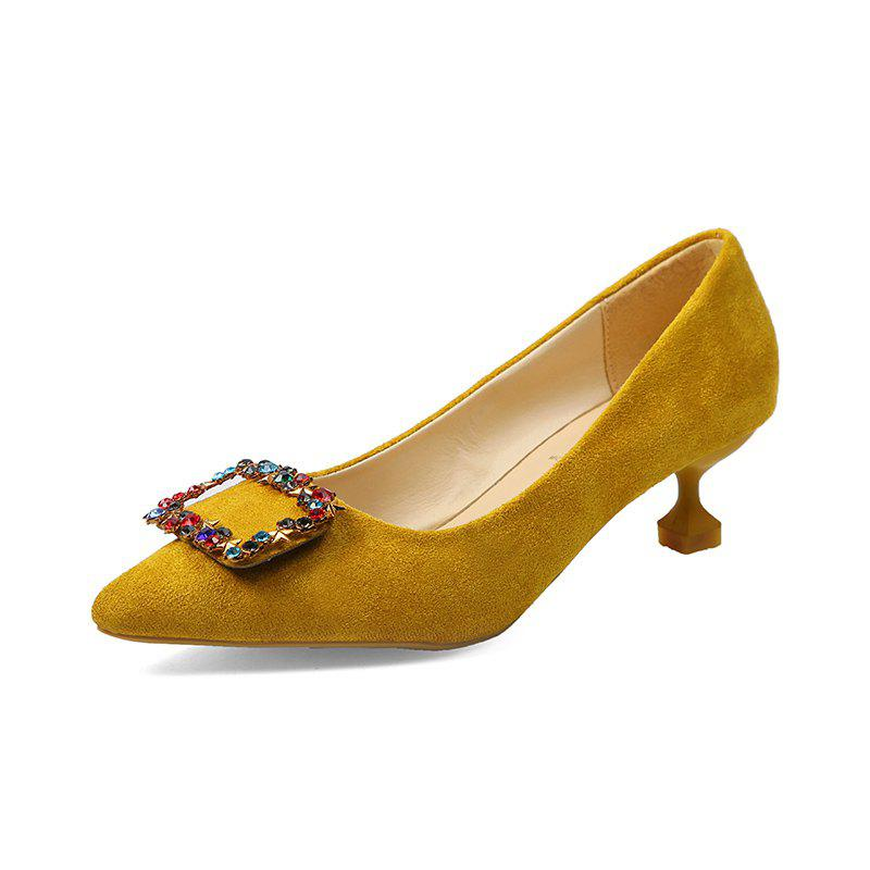 Chaussures Spike Low Heelswater Drill pour chat et fille - Jaune 38