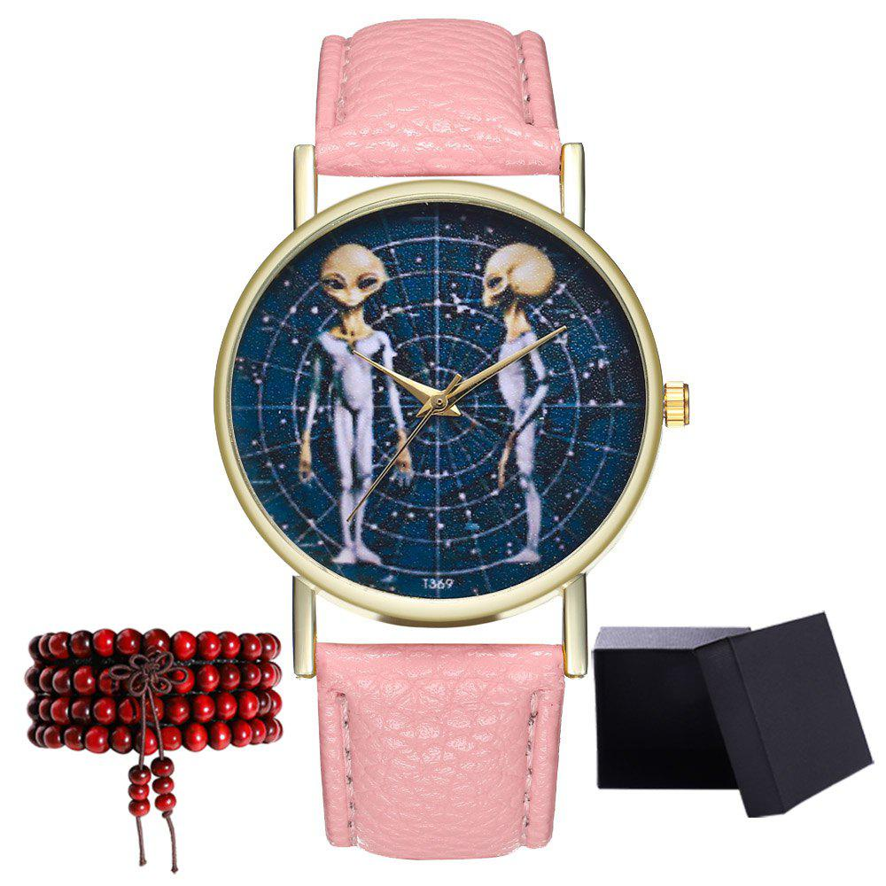 Kingou T370 Fashion Personality Shell Pattern Lychee Quartz Watch - PINK