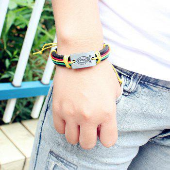 Small Fish Leather Alloy Bracelet Personalized Jewelry - multicolor