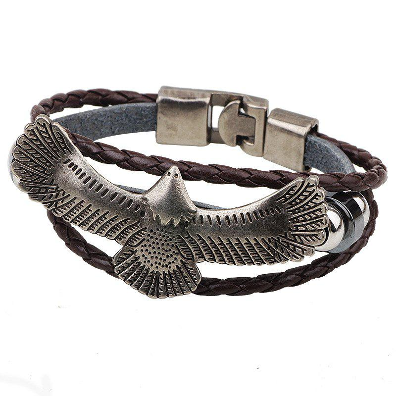 Eagle Accessories Leather Bracelet Belt - COFFEE