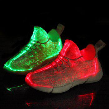 2018 Fiber Luminous Ghosts Colorful Women's Shoes - WHITE 41