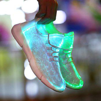 2018 Fiber Luminous Ghosts Colorful Women's Shoes - WHITE 35
