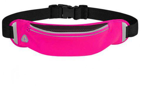 Waterproofed Breathable Waist Bag for Outdoor Sports Mountaineering Running - NEON PINK