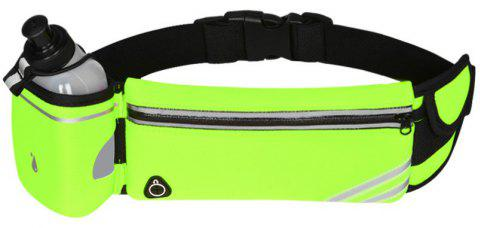 Multipurpose Breathable Waist Bag for Outdoor Sports Mountaineering Running - GREEN YELLOW