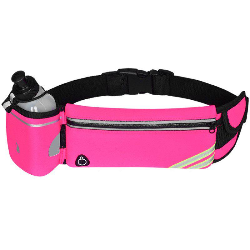 Multipurpose Breathable Waist Bag for Outdoor Sports Mountaineering Running - DEEP PINK