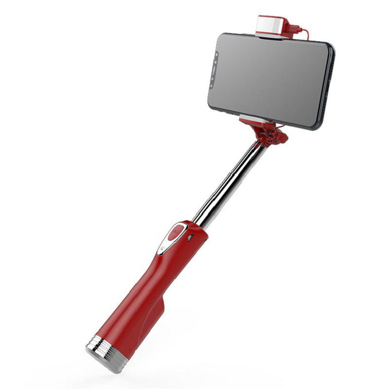 Mini Portable Selfie Stick with Light Selfie Stick for Android/IOS - SCARLET