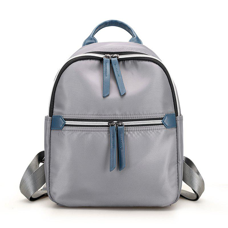 Fashion Women Backpack High Quality Backpacks for Teenage Girls Shoulder Bag - LIGHT GRAY