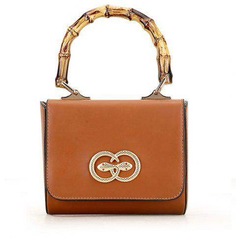 Fashion Ladies Small Crossbody Bags for Women Metal Button Shoulder Bag - LIGHT BROWN