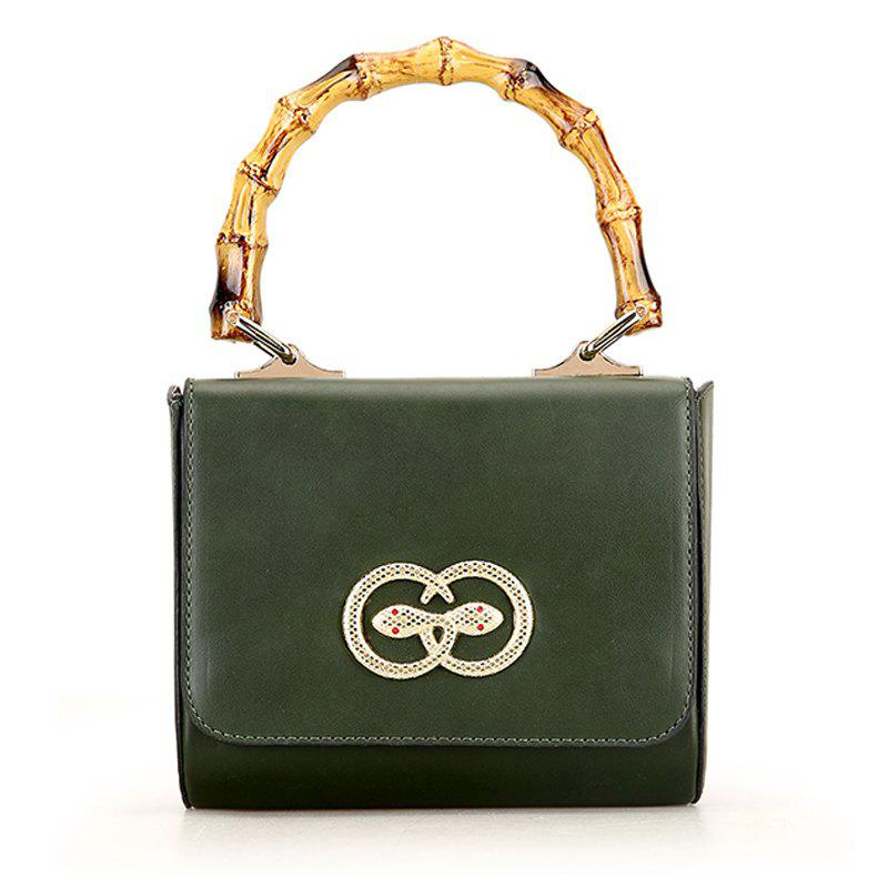 Fashion Ladies Small Crossbody Bags for Women Metal Button Shoulder Bag - ARMY GREEN